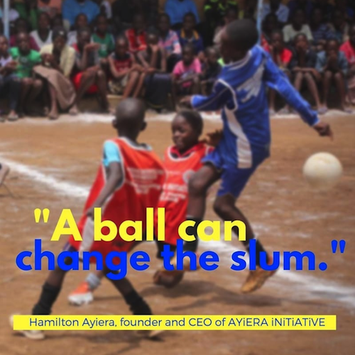 A ball can change the slum - says Hamilton Ayiera