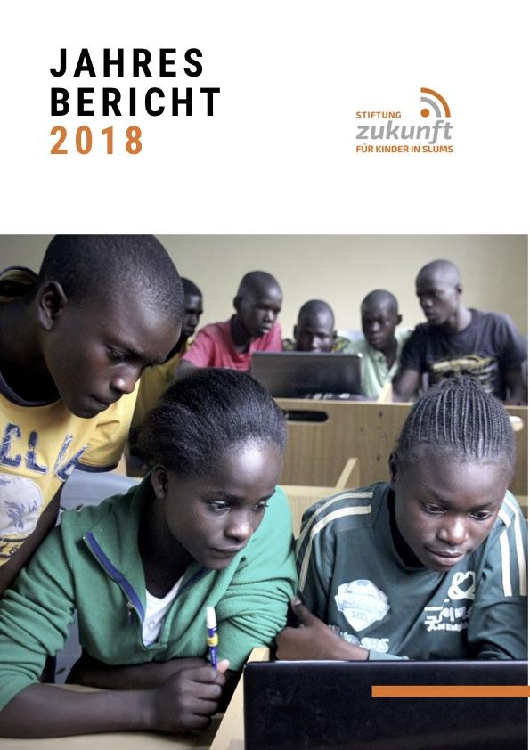 Titelbild des Jahresbericht 2018 der Stiftung Zukunft für Kinder in Slums